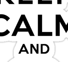 Keep Calm and Go Kayaking LS Sticker