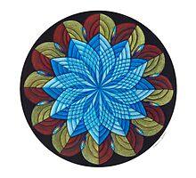 Sacred Mandala Card Full Color by TheMandalaLady