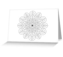 Sacred Mandala Color Your Own Card Greeting Card