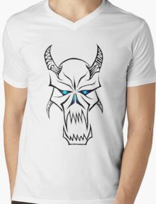 Blue eyed Devil Tribal Mens V-Neck T-Shirt