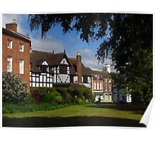 The Guildhall & Houses, Much Wenlock Poster