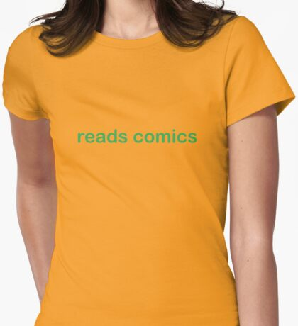 Reads Comics - CoolGirlTeez Womens Fitted T-Shirt
