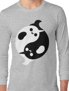 Yin Yang Narwhals Long Sleeve T-Shirt