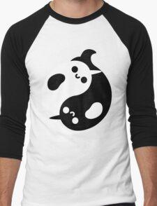 Yin Yang Narwhals Men's Baseball ¾ T-Shirt