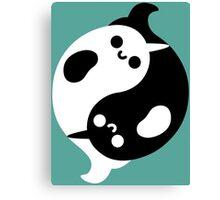 Yin Yang Narwhals Canvas Print