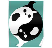 Yin Yang Narwhals Poster