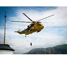 Helicopter at Sea Photographic Print