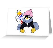 north pole penguin  Greeting Card