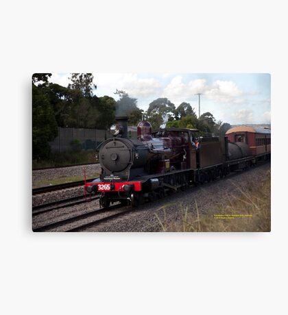 Steam Loco 3265 at Maitland NSW Australia (Dry Brushed) Canvas Print