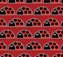 Lots Of Ladybugs Card by Louise Parton