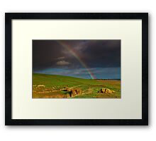 """""""The Rainbow And The Rock"""" Framed Print"""
