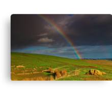 """""""The Rainbow And The Rock"""" Canvas Print"""