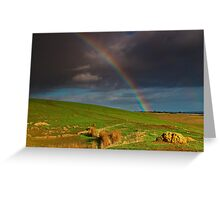 """""""The Rainbow And The Rock"""" Greeting Card"""