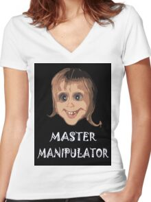 MASTER MANIPULATOR Women's Fitted V-Neck T-Shirt