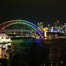Vivid Sydney - Rainbow Bridge  by kcy011