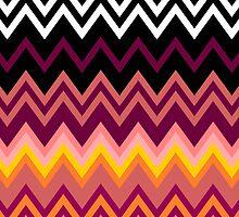 Colorful Zig Zag Retro by LABELSTONE