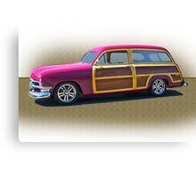 1950 Ford Woody Surf'n Wagon/Studio Canvas Print