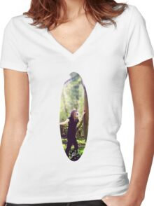 Peace of The Countryside. Women's Fitted V-Neck T-Shirt