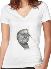 Ms. Big Women's Fitted V-Neck T-Shirt