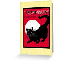 Tom Boy Black Cat Vintage Sheet Music Cover Greeting Card