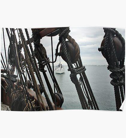 Sails Ship Geelong Poster