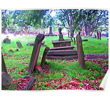Old Graves - Camperdown Cemetery NSW Poster