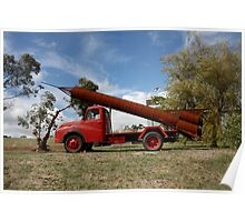 Rocket truck Poster