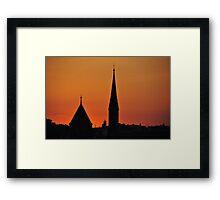 Sunset Silhouette, Budapest, Hungary  Framed Print