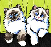 Pair of Dolls | Ragdoll Cats by offleashart