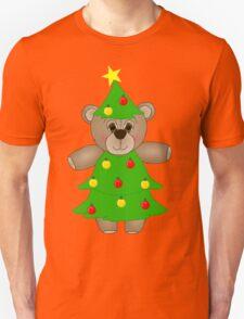 Cute Teddy Bear Dressed as a Christmas Tree T-Shirt