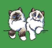 Pair of Dolls | Ragdoll Cats One Piece - Short Sleeve