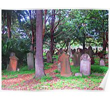 Old Graves 2 - Camperdown Cemetery NSW Poster