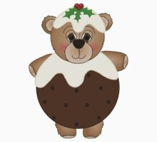 Cute Teddy Bear Dressed as a Christmas Pudding by ArtformDesigns