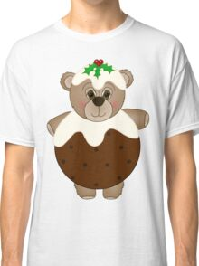 Cute Teddy Bear Dressed as a Christmas Pudding Classic T-Shirt