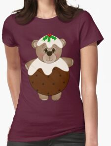 Cute Teddy Bear Dressed as a Christmas Pudding T-Shirt