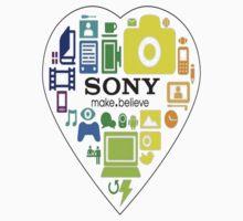 Sony fan shirt or stickers by Kerrisaurus