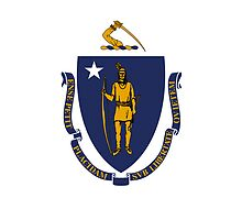 Smartphone Case - State Flag of Massachusetts - Horizontal by Mark Podger