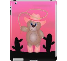 Cute Cartoon Teddy Bear Cowgirl iPad Case/Skin