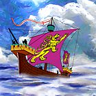 A 13th century English Fighting Ship - The Cog by Dennis Melling