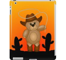 Cute Cartoon Teddy Bear Cowboy iPad Case/Skin