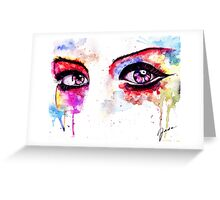 Watercolor Eyes II Greeting Card
