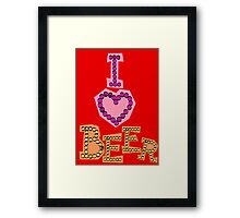 I love beer Framed Print