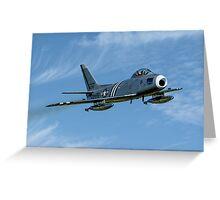 F-86A Sabre 48-0178 G-SABR fast pass Greeting Card