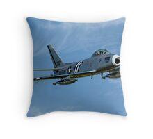 F-86A Sabre 48-0178 G-SABR fast pass Throw Pillow