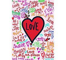 Love graffiti Photographic Print