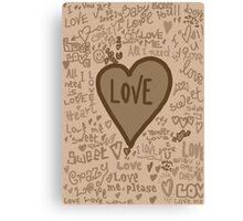 love vintage Canvas Print