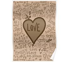 love vintage Poster
