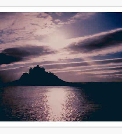 St. Michaels Mount Cornwall Silhouette Sticker