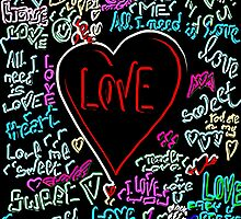 love neon graffiti by Logan81