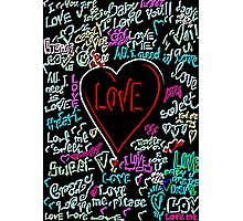 love neon graffiti Photographic Print